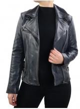 Leather Jacket Women Ricano Unike black