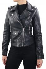 Leather Jacket Women Ricano Pinko black