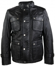 Mens Leather Jacket Ricano Giovanni Lambskinleather black
