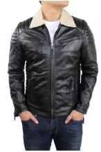 Lederjacke Ricano Cooper Fur schwarz