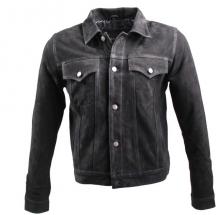 Lederjacke Ricano Jeans Jacket schwarz