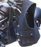 Motorrad-Lederweste Skorpion Club Rindnubukleder schwarz