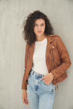 Leather Jacket Ricano Foxy Lambskin Cognac