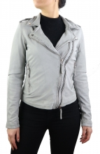Leather Jacket Ricano Foxy Lambskin Light Grey