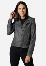 Leather Jacket Ricano Foxy Lambskin Dark-Grey
