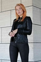 Leather Jacket Levinsky Merry Lambskin black