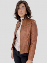 Leather Jacket Levinsky Merry Lambskin Cognac