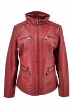 Leather Jacket Levinsky Teija red