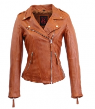 Leather Jacket Women Ricano Relly 2 Cognac