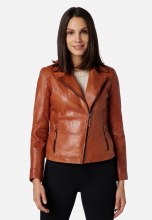 Womens Leather Jacket Ricano Sally Cognac