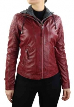 Womens Leather Jacket Ricano Samantha red