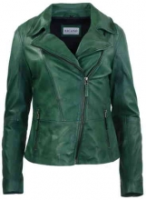 Womens Leather Jacket Ricano Sally green