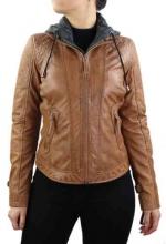 Womens Leather Jacket Ricano Samantha Cognac