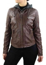 Womens Leather Jacket Ricano Samantha brown