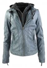 Womens Leather Jacket Ricano Samantha grey