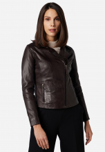 Womens Leather Jacket Ricano Sally Brown