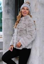 Pelzjacke Levinsky Furs Rex Kanin Beige