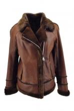 Leatherjacket Levinsky Furs Lambskin cognac