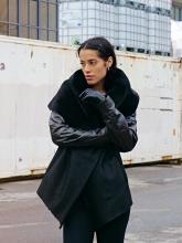 Leatherjacket Levinsky Furs Lambskin black