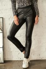 Leather Pants Ricano Lenie black-silver