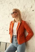 Leather Jacket Ricano Road Lambskin orange
