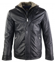 Mens Leather Coat Ricano Wallace Lambskinleather black