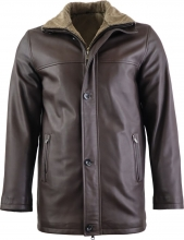 Leather Coat Ricano Jemenez Lambskinleather brown