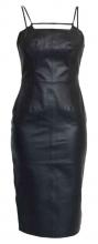 Lederkleid Ricano Neckless Dress schwarz