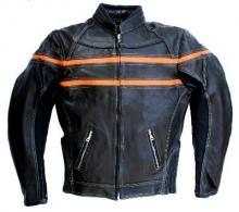 Motorrad Lederjacke Skorpion Roadstar schwarz-orange