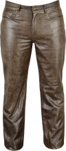 Leather Pants 501 Fuente deluxe Cowhide Antique Leather brown