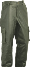 Leather Cargo Pants Fuente deluxe Buffalo Nubuck oliv-green