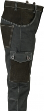 Leather Cargo Pants Fuente deluxe Buffalo Nubuck Leather black