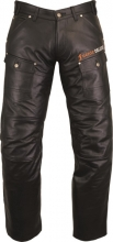 Leather Pants Biker Fuente deluxe Top Cowhide-Leather black