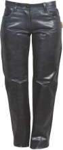 Womens Leather Pants 5 Pocket Style Fuente deluxe Cowhide Glazed Leather