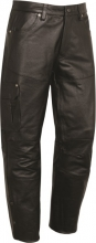 Cargo Leather Pants Fuente Biker Cowhide Nappa Leather Black