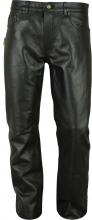 Leather Pants Cowhide Aniline Fuente deluxe 501 black