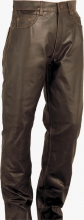 Leather Pants 5-Pocket Fuente deluxe oiled Buffalo leather brown