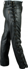 Lace-up Leather Pants Fuente deluxe Cow Nappa Leather black