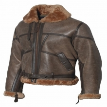 British Royal Airforce Flight Jacket Lambskin Leather Jacket Brown