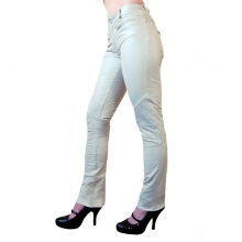Genuine Tight Leather Pants Ricano DONNA Lambskin Leather white
