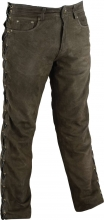 Lace-up Leather Pants Ricano Buffalo Nubuck Leather brown