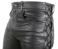Schnürlederhose Ricano Biker Cow Waxy Leder schwarz
