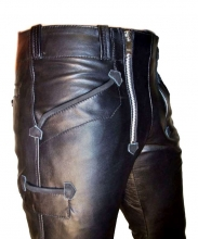 Leather Pants Ricano Carpenter Buffalo Nappa Leather black