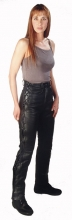 Lace-up Leather Pants Skorpion Cowhide Aniline Leather black