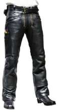 Leather Pants Skorpion Craftsman Cow Anilin Leather black