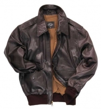US A2 Leather Jacket Aviator flying jacket Goat Nappaleather brown